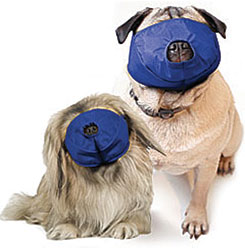 Pug-Nosed Quick Muzzle For Dogs, Set of 2, Blue