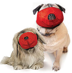 Pug-Nosed Quick Muzzle For Dogs, Set of 2, Red