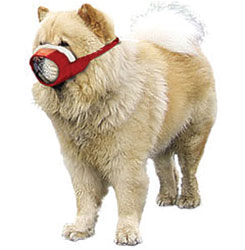 MUZZLES,MEDIUM CHOW COZY QUICK MUZZLE FOR DOGS - RED