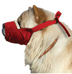Cozy Quick Muzzle For Dogs, Large Chow, Red