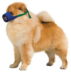 Color-Coded Quick Muzzle For Dogs, Small, Chow