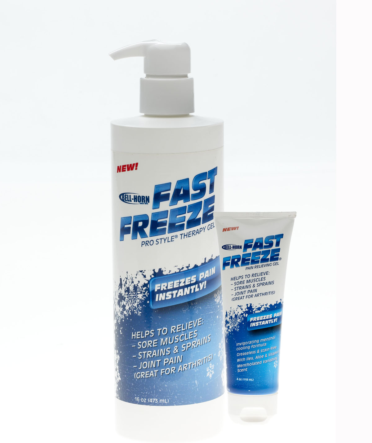 Fast Freeze Cold Therapy Pain Relief Gel, 4 Oz. Tube, 12/Case