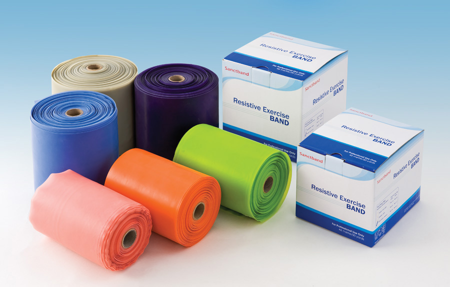 Exercise Band Blue Heavy, 6 Yd Roll, Each