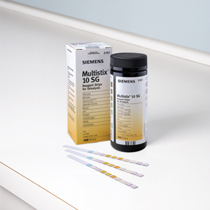 Multistix 10SG. Reagent strips for urinanalysis. Tests