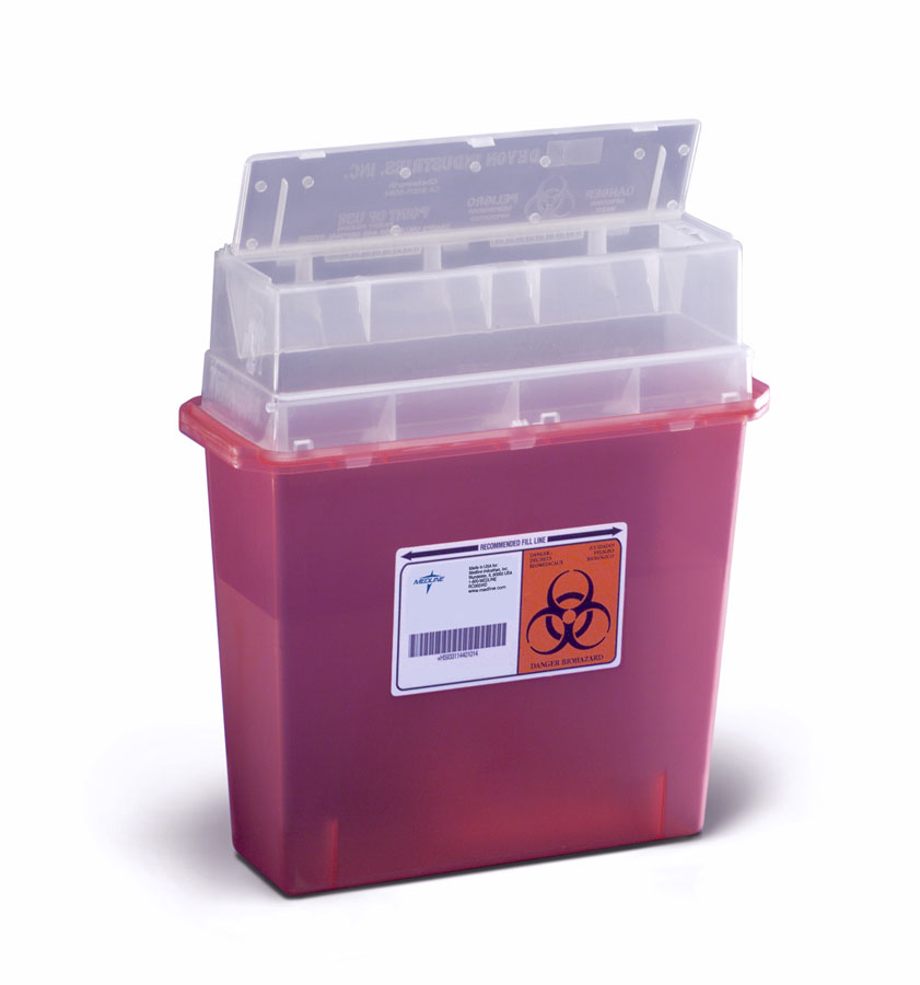 CONTAINER,SHARPS,5.4 QT,PEARL,SIDE TOP,12 EA/CS