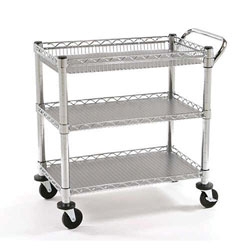 Utility Cart 3 Wire Shelves