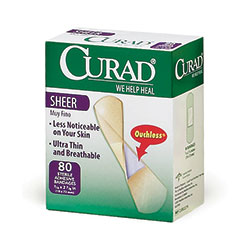 "BANDAGE,SHEER,CURAD,3/4""X3"",80/BX,EACH"