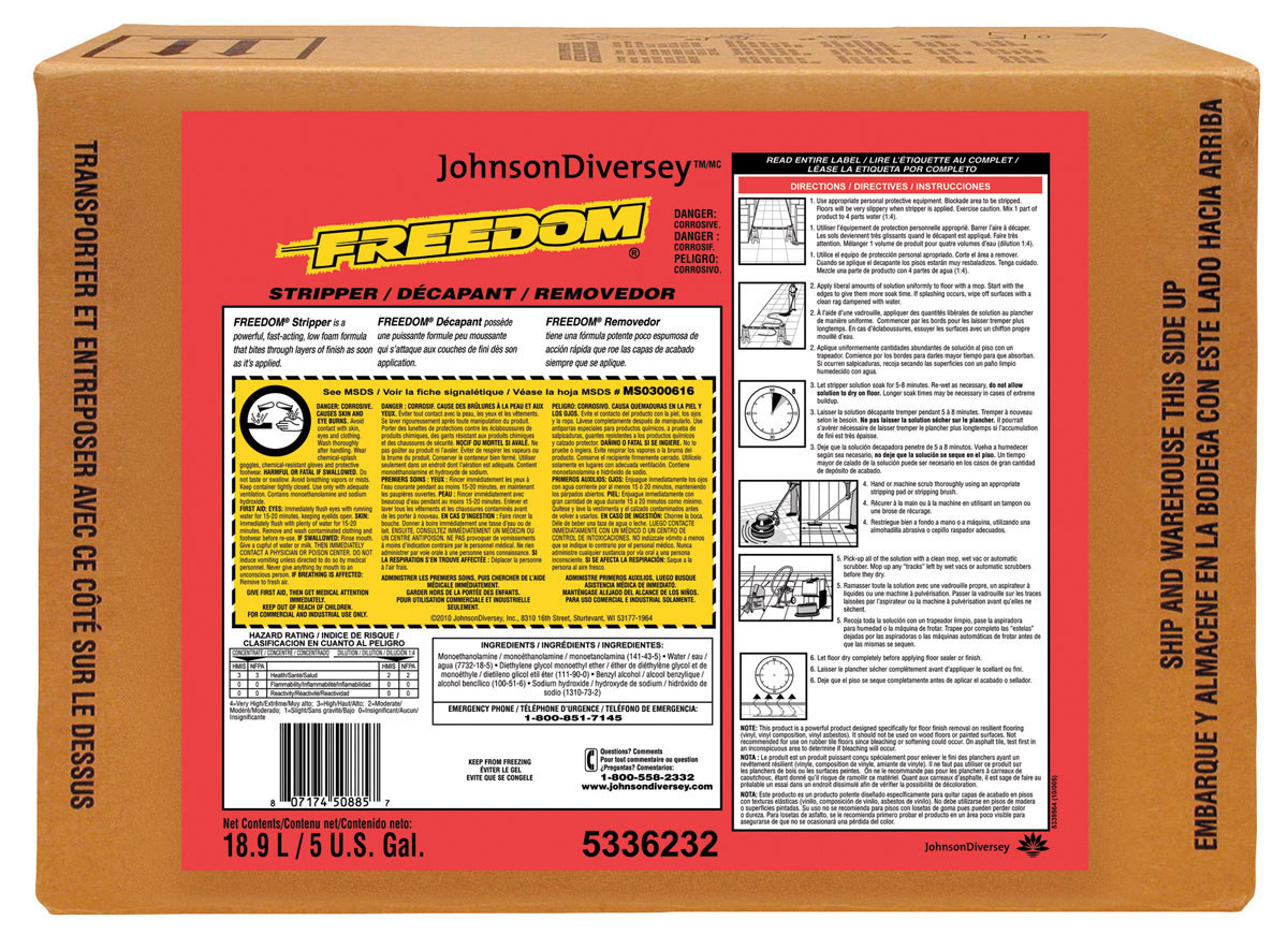 Stripper Floor Freedom Sc 2.5L J-Fill 2 Ea/Cs