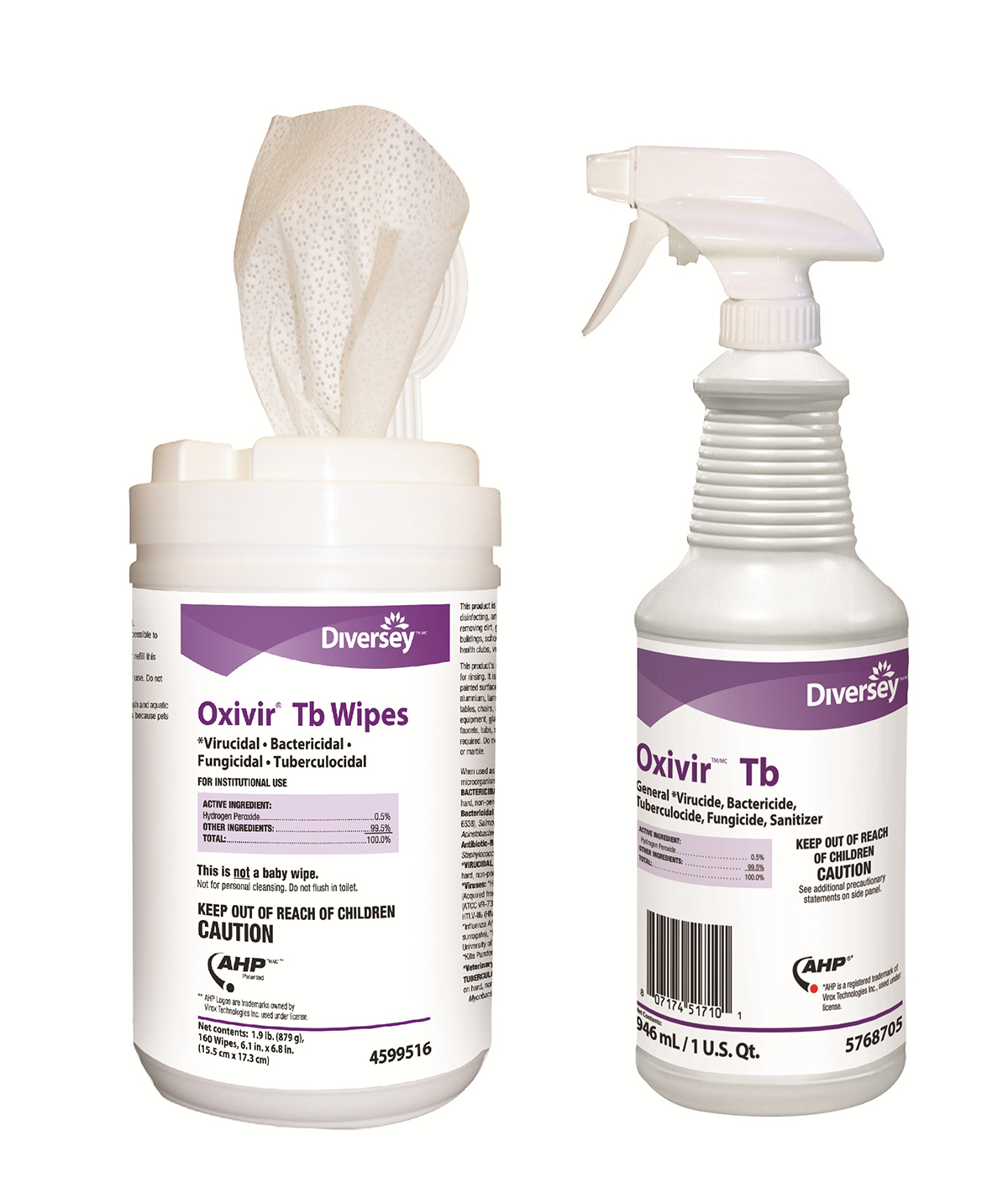 Disinfectant  Oxivir Tb  Wipes 6X7 12 Ea/Cs