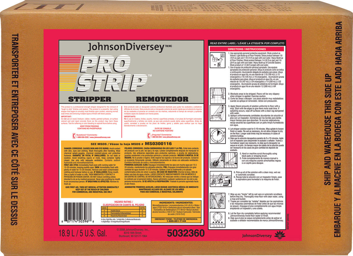Stripper Floor Pro-Strip Heavy Duty Bib Ea