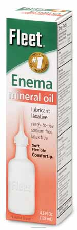 ENEMA,MINERAL OIL,DISPOSABLE,4.5OZ.,EA