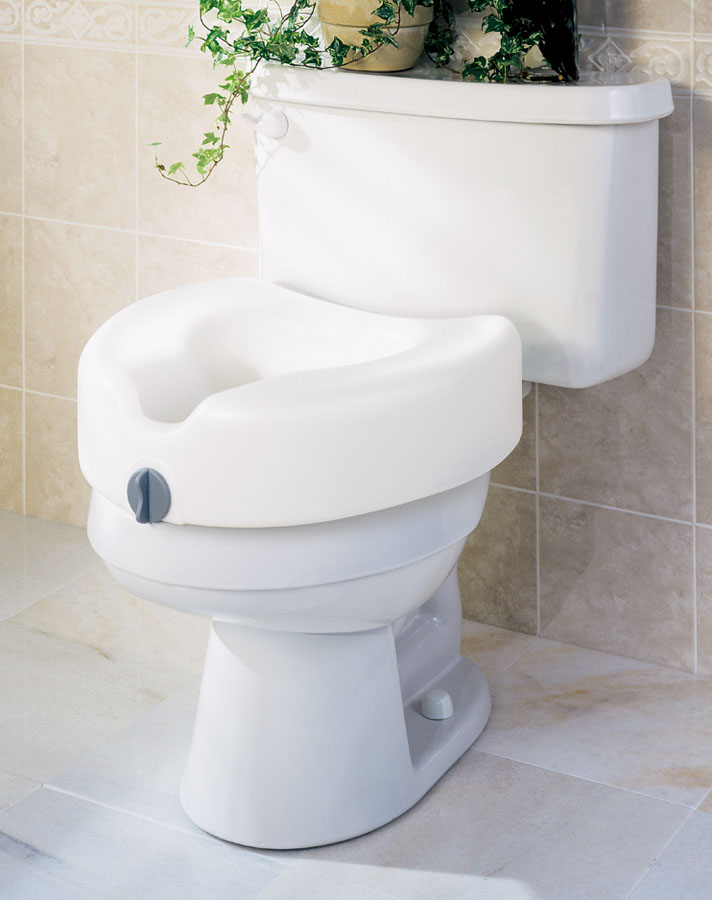 "SEAT,TOILET,RAISED 5"",LOCKING,GUARDIAN,3 EA/CS"