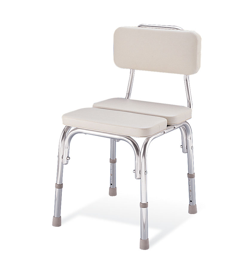 CHAIR,SHOWER,W/BACK,PADDED,300 LB CAP,2 EA/CS