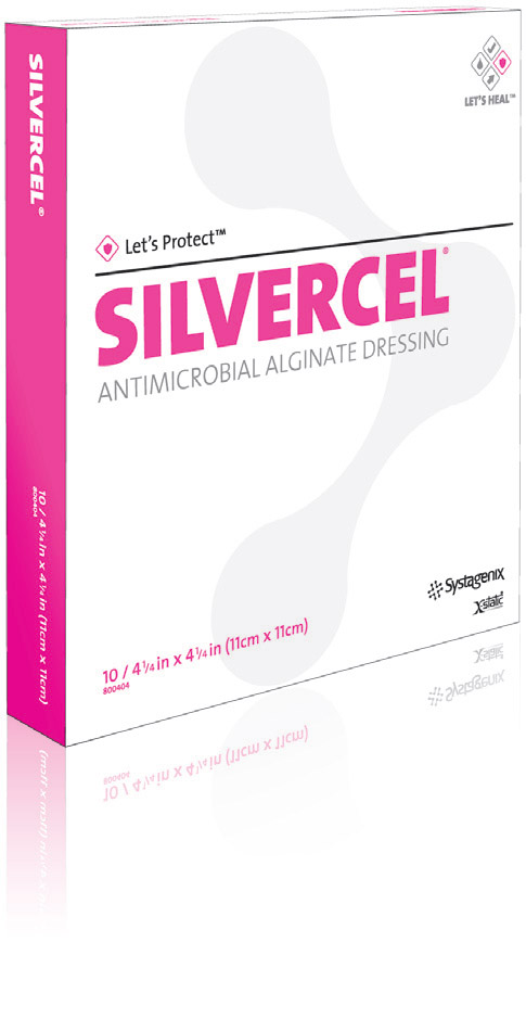 Silvercel Antimicr Alginate 4 1/4X4 1/4