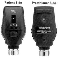 Welch Allyn 3.5V AutoStep® Coaxial Ophthalmoscope Head