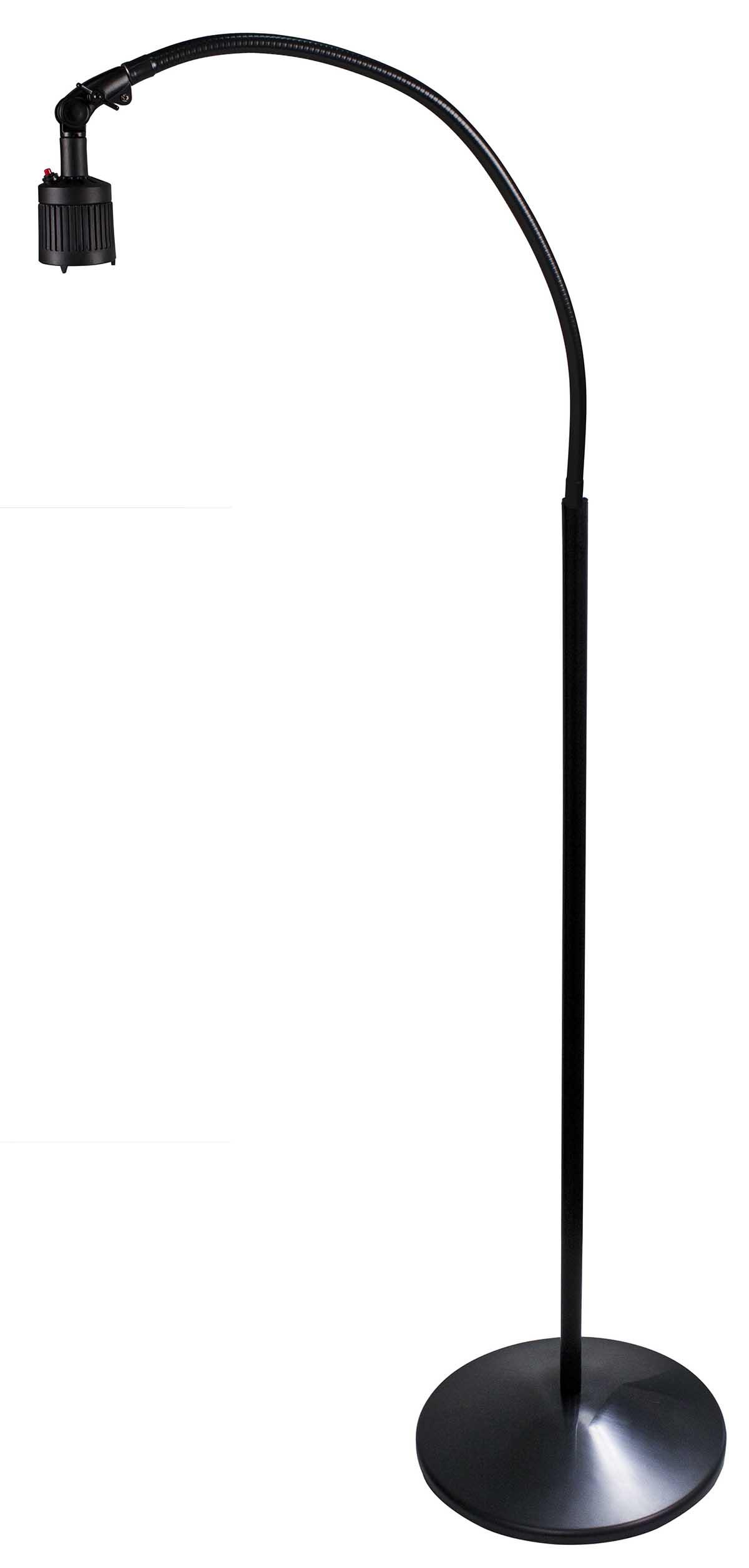 LAMP,EXAM,CASTERS,BLACK OR WHITE,EA