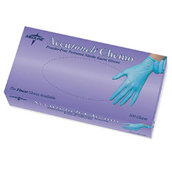 Accutouch Nitrile Chemo Powder Free Glove, Blue, Large, 100/Box