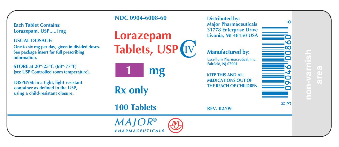 RX CIV LORAZEPAM 1MG 100 TABLETS