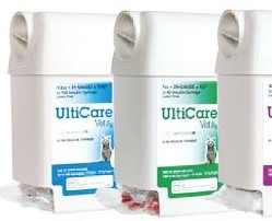 Ulticare veterinary U-40 insulin syringe 0.5cc, 29G x 1/2