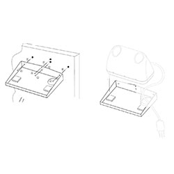 BRACKET, MOUNTING, WALL 71141, CHARGER, EA