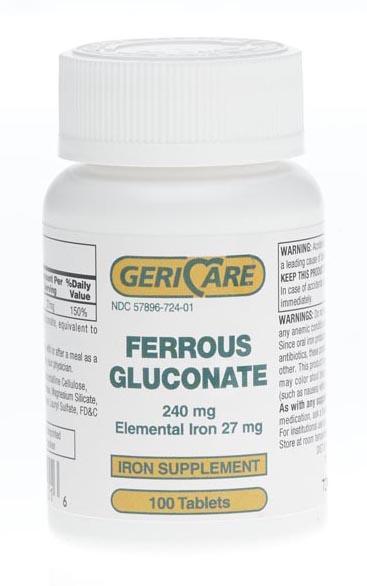 Ferrous gluconate mg