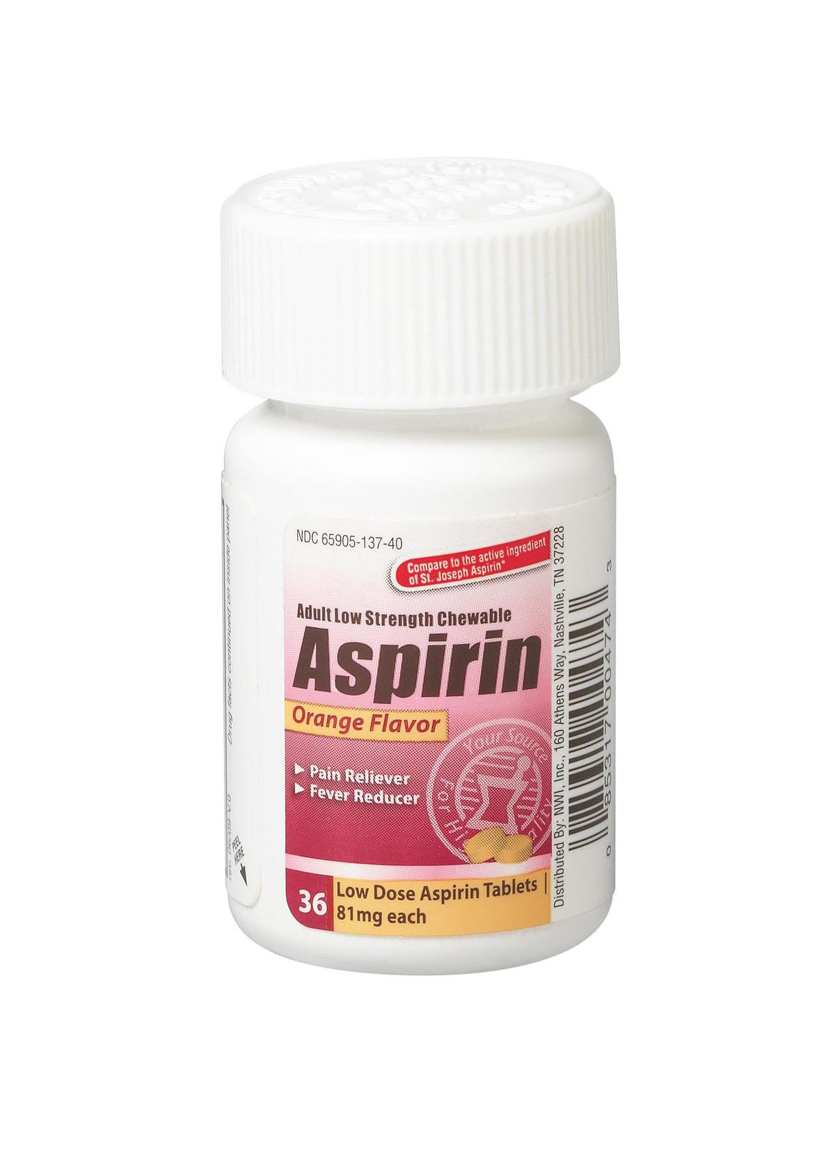 Aspirin 81 mg pain reliever nsaid