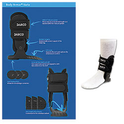 Darco Body Armor Vario Ankle Brace, Right, Regular, Each