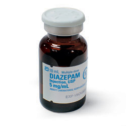 diazepam iv administration set changes