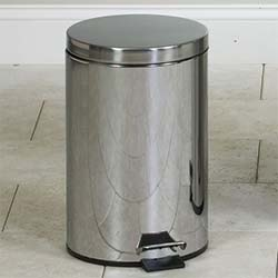 Round Stainless Steel, 13 Qt. Waste Receptacle