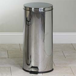 Round Stainless Steel 32 Qt. Waste Receptacle