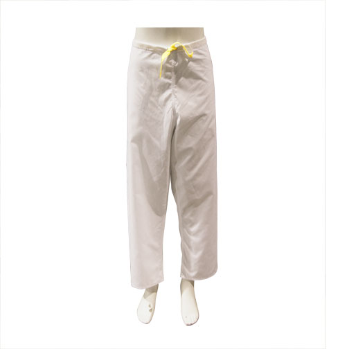 PANTS, WHITE, DRAWSTRING, UNISEX, SMALL