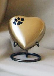 URN STAND, HEART, PEWTER
