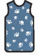 APRON, X-RAY, W/QUICK RELEASE, LARGE, ROYAL PAWS