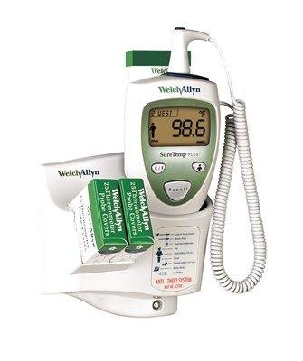 SureTemp Plus 690 Electronic Thermometer Rectal Probe w/ Rectal Probe Well One Room, Wall Mount, 9 ft