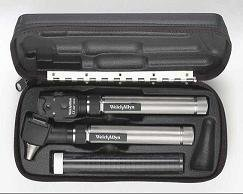 Welch Allyn 2.5v PocketScope Otoscope/Ophthalmoscope Set with AA Battery Handle/Hard Case - 92820