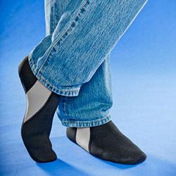 FOOTWEAR,NUFOOT,BOOTIE,BLACK/GRAY,MEDIUM,PAIR
