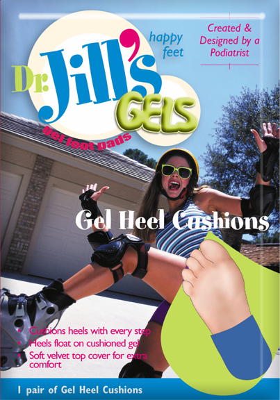 PADS,HEEL,GEL,DR JILLS,WOMEN'S,1 PAIR/BOX