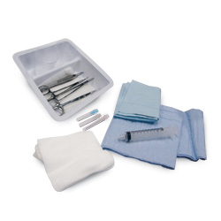 LACERATION TRAY, 4 INSTRUMENTS, 16 EA/CS