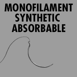 Monofilament synthetic absorbable Suture 4-0 Cutting Each