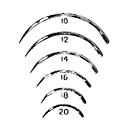 3/8 Circle Cutting Edge Needle Size 14, 12/pk Miltex Miltex