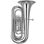 Yamaha Intermediate BBb Tuba - Silver Plating w/ Wood Case