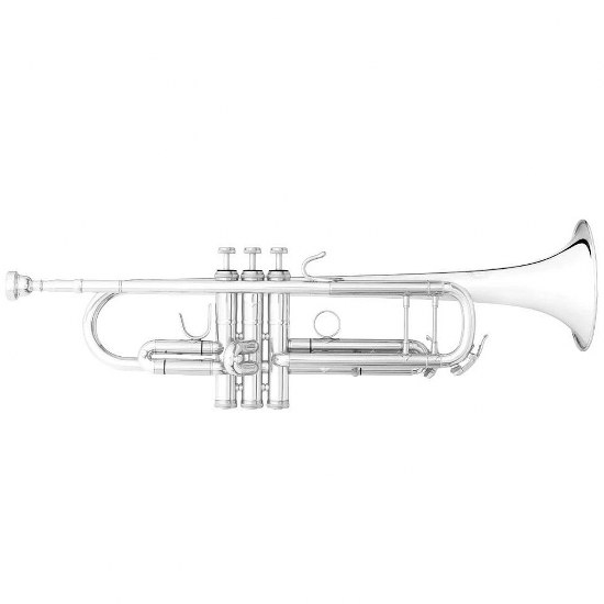 """B&S """"Challenger I"""" Professional Bb Trumpet - Silver Plating"""