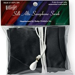 Hodge Alto Saxophone Silk Swab - Black