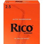 Rico by D'Addario Alto Saxophone #2.5 Reeds - Box of 10