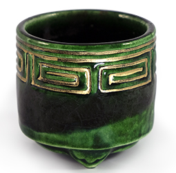 Raku Green Incense Censer