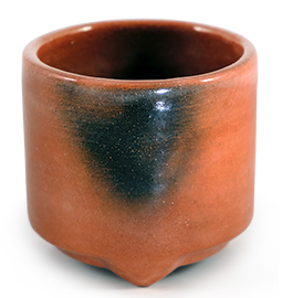 Raku Red Incense Censer