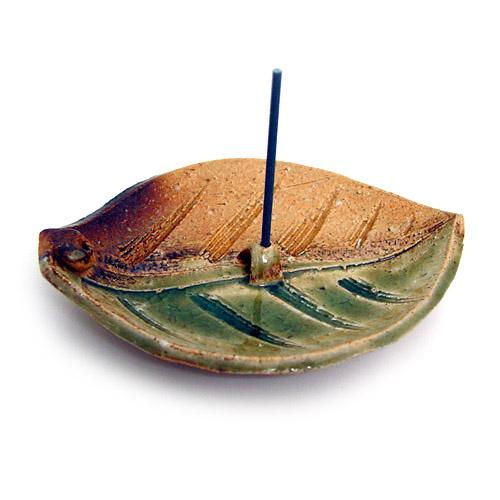 Japanese Leaf Incense Holder