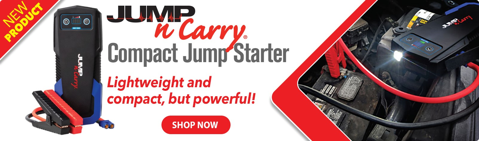 Jump-N-Carry Compact Jump Starter - Lightweight and compact, but powerful!