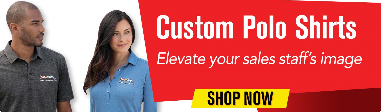 Custom Polo Shirts - Elevate your sales staff's image.