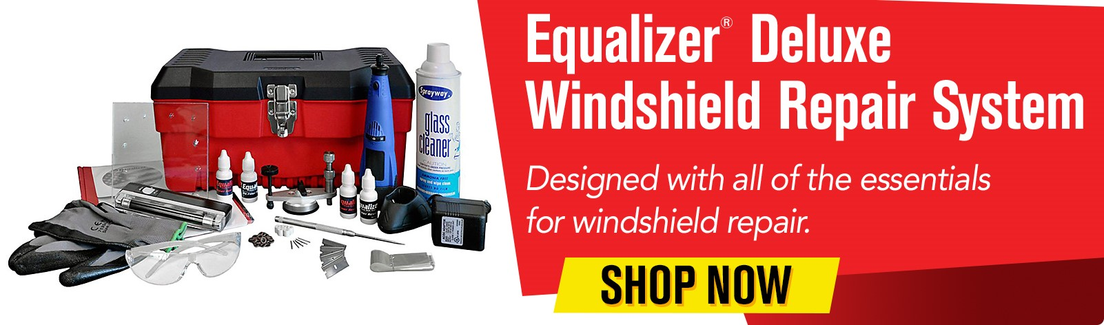 Equalizer Windshield Repair System - Designed with all of the essentials for windshield repair.